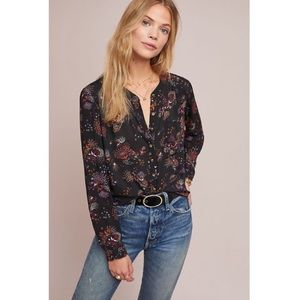 Anthropologie 52 Conversations Colloquial blouse